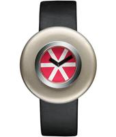 AL12003 Ciclo by Ettore Sottsass 40mm Deisgn watch with Red Dial