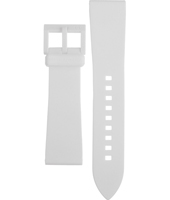 AAX1241 AX1241 22mm White silicone strap