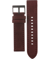 AAX2130 AX2130 22mm Brown Leather Strap