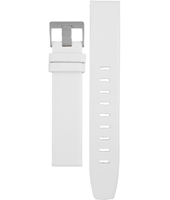 ABN0011WHWHL BN0021 + BN0011 Lady 18mm White Leather Strap