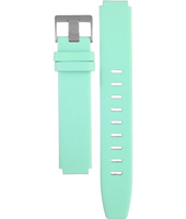 ABN0031WHTQL BN0031 18mm Turquoise leather strap