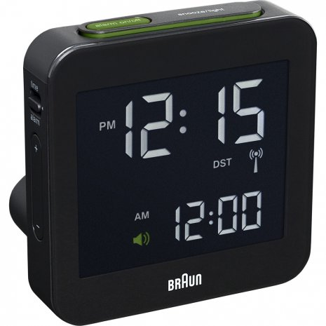 Clock Black Quartz Digital