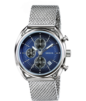 TW1529 Beaubourg 42mm Steel & blue quartz chronograph with date