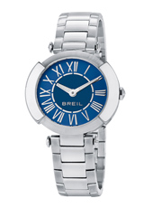 TW1441 Flaire 35mm Steel & blue ladies watch with roman numbers