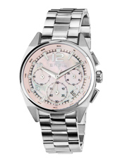 TW1409 Master 37mm Steel ladies chronograph with pink dial