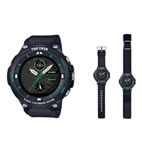WSD-F20X-BK Pro Trek Smart Watch 57.7mm