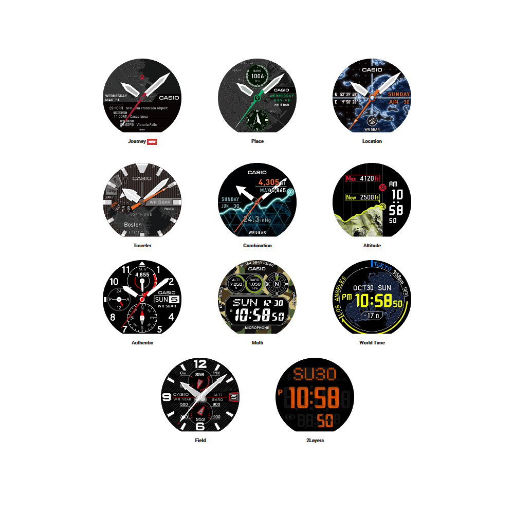 a9a35b603552 Outdoor Smartwatch with Replaceable Strap Autumn and Winter Collection Casio