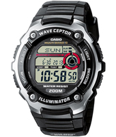 WV-200E-1AVEF  47.70mm Black Radio-Controlled Watch