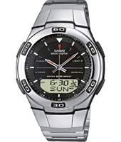 WVA-105HDE-1AVER  41.40mm Silver Radio-Controlled Watch