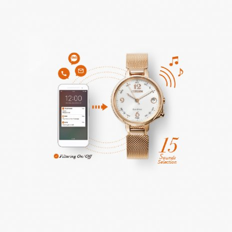 Ladies Eco-Drive Smartwatch on Mesh Bracelet Autumn and Winter Collection Citizen