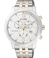 AT2305-81A Sport Eco-Drive 42mm Bicolor Solar Powered Chronograph