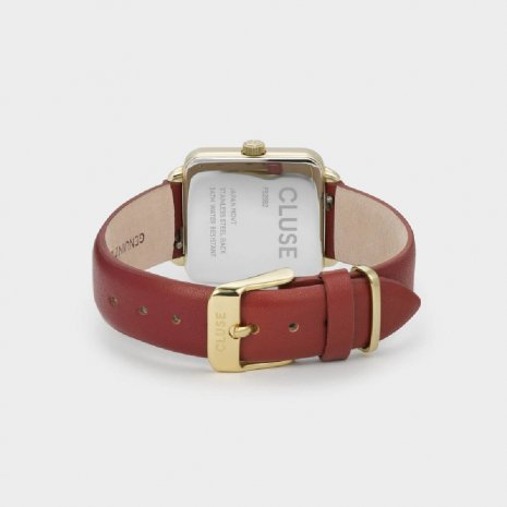 Square Ladies Quartz Watch on Leather Strap Autumn and Winter Collection Cluse