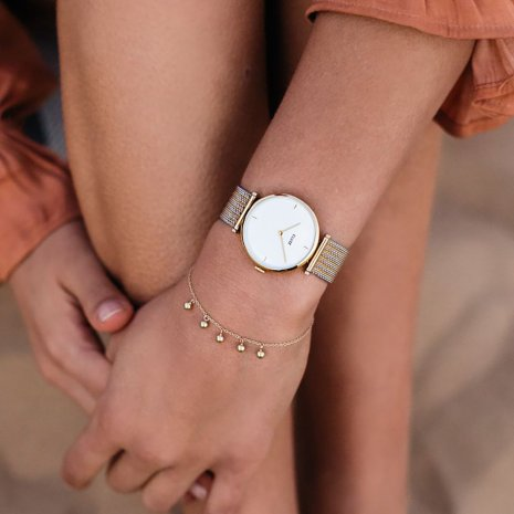Ladies Quartz Watch with Mesh Bracelet Spring and Summer Collection Cluse