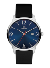 IQ22Q1109  40mm Steel & blue gents watch with date