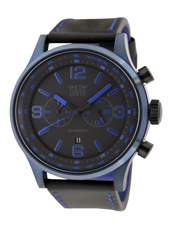 davis1980 Aviamatic 48mm Black & Blue XL Pilot Chronograph