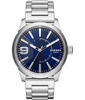 DZ1763 Rasp 46mm Silver & blue gents watch