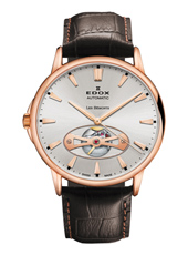 85021-37R-AIR Les Bemonts Open Vision 42mm Swiss Made Automatic Watch with Open Heart