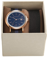 ES108361003 Alan 43mm Rose Gold Gents Watch in set with extra strap