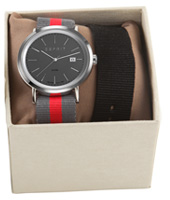 ES108361004 Alan 43mm Grey Gents Watch in set with extra strap