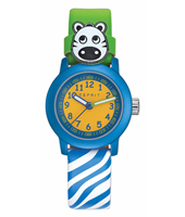 ES106414032 Cutie face Colorful kids watch with blue zebra print