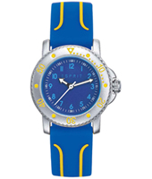 ES108334001 Diving club Silver kids watch with blue rubber strap