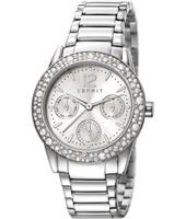 ES107152001 Elsie 34mm Crystal inlayed Silver Day/Date Watch