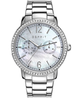 ES108092001 Kate Silver ladies watch with mother of pear dial