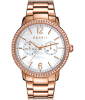 ES108092003 Kate Rose gold ladies watch with mother of pear dial