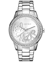 ES108122004 Kylie Silver ladies watch with crystals & decorated dial