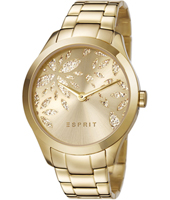 ES107282003 Lily Dazzle 38mm Gold Ladies Watch with Crystal Decorated Dial