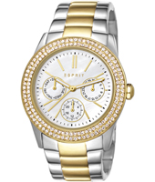 ES103822015 Peony  38mm Bicolor Gold, Crystals & Mother of Pearl Multifunction Watch