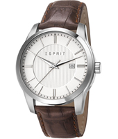 ES107591002 Relay Easy  43mm Steel & Brown Classic Gents Watch with Date