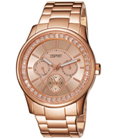 ES105442004 Starlite  40mm Rose Multifunction Watch with Princess cut Crystals