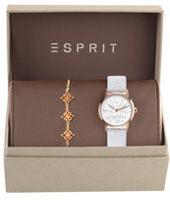 ES108892001 White Lilly 30mm Gift Set: Watch with Bracelet
