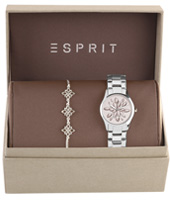 ES108892002 White Lilly 30mm Gift Set: Watch with Bracelet