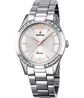 F16913/1 Boyfriend 35mm Bicolor Rose Ladies Watch with Crystals