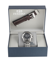 F16169/6 Gift Set 40mm Watch with Extra Leather Strap