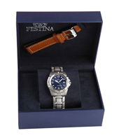 F16170/4 Gift Set 40mm Watch with Extra Leather Strap