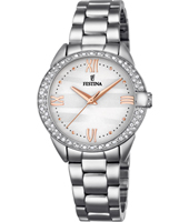 F16919/1 Mademoiselle 33.40mm Silver Ladies Watch with Crystals