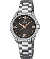 F16919/2 Mademoiselle 33.40mm Silver Ladies Watch with Crystals