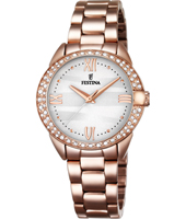 F16920/1 Mademoiselle 33mm Rose Gold Ladies Watch with MOP Dial