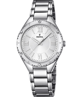 F16921/1 Mademoiselle 34mm Silver Ladies Quartz Watch