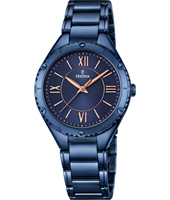 F16923/2 Mademoiselle 34mm Rose Gold & Blue Ladies Quartz Watch