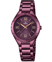 F16924/2 Mademoiselle 34mm Rose Gold & Purple Ladies Quartz Watch
