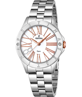 F16925/1 Mademoiselle 34mm Rose Gold & Silver Ladies Quartz Watch