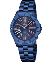 F16927/2 Mademoiselle 34mm Rose Gold & Blue Ladies Quartz Watch