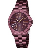 F16928/2 Mademoiselle 47mm Rose Gold & Purple Ladies Quartz Watch