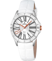 F16929/1 Mademoiselle 34mm White Ladies Quartz Watch
