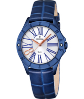 F16931/1 Mademoiselle 34mm Rose Gold & Blue Ladies Quartz Watch
