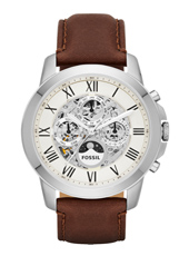 ME3027 Grant 44mm Automatic Multifunction Skeleton Watch